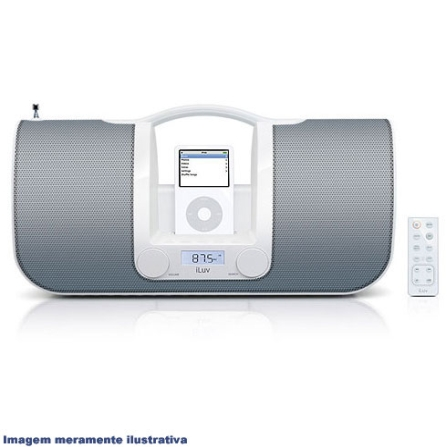 Dock Boombox Branco Portátil com Rádio AM/FM - iLuv - I552BC