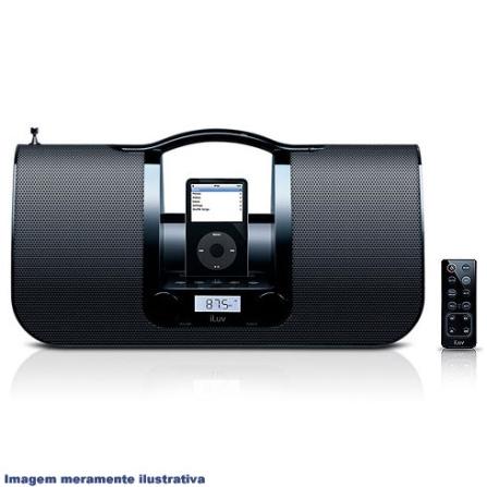 Dock Boombox Preto Portátil com Rádio AM/FM - iLuv - I552PT