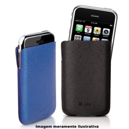 Capas Emborrachadas Azul e Preta para iPhone - iLuv - I70AZPT