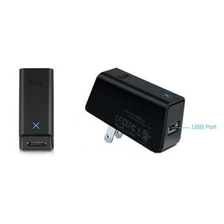 Carregador compacto USB Preto para iPad - Iluv - IAD517, 06 meses