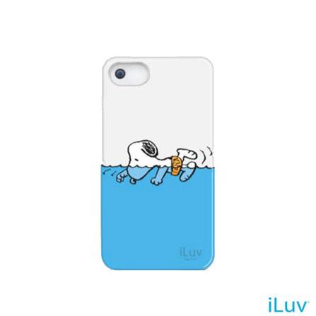 Capa para iPhone 5 Rígida Snoopy Sports iLuv, Branco, 06 meses