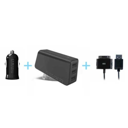 Kit Carregador para iPod e iPhone - Preto - iLuv - IVICC164, Preto, 06 meses