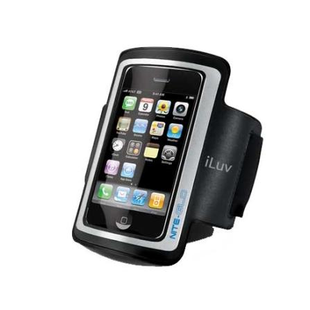 Braçadeira Preto para iPhone 4 e iPod Touch iLuv, Preto, 06 meses