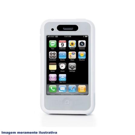 Capa de Silicone para iPhone 3ª Geração / Branca - iLuv - ICC71BR, Branco, 06 meses