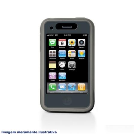 Capa de Silicone para iPhone 3ª Geração / Preta - iLuv - ICC71PT, 06 meses