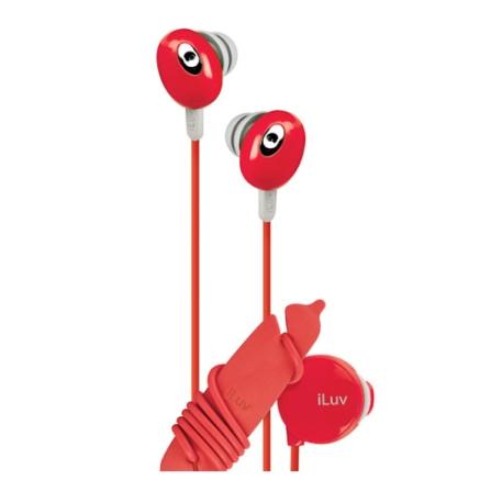 Fone de Ouvido Auricular Estéreo / Vermelho - iLuv - IEP311RED