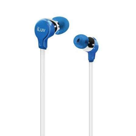 Fone de Ouvido com entradas intra - auriculares / Azul - iLuv - IVIEP314BLU, Azul e Branco, Intra-auricular, 06 meses