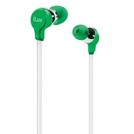 Fone de Ouvido com entradas intra - auriculares / Verde - iLuv - IEP314GRN, Verde, Intra-auricular, 06 meses