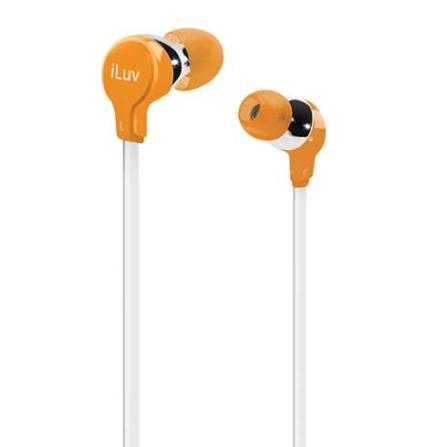 Fone de Ouvido com entradas intra - auriculares / Laranja - iLuv - IVIEP314ORG, Laranja, Intra-auricular, 06 meses