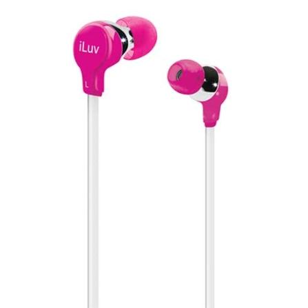Fone de Ouvido com entradas intra - auriculares / Rosa - iLuv - IVIEP314PNK, Pink, Intra-auricular, 06 meses
