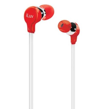 Fone de Ouvido com entradas intra - auriculares / Vermelho - iLuv - IVIEP314RED, Vermelho, Intra-auricular, 06 meses