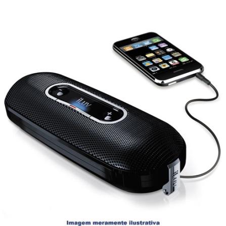 Mini Amplificador com Alto Falantes p/ iPhone iLuv