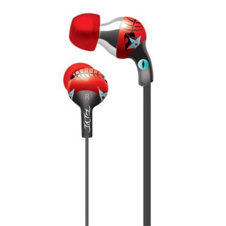 Fone de Ouvido com entradas auriculares Tatz / Vermelho - iLuv - IVTEP101RED, Vermelho, Intra-auricular, 06 meses