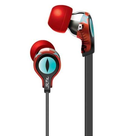 Fone de Ouvido com entradas auriculares Tatz / Vermelho - iLuv - IVTEP102RED, Vermelho, Intra-auricular, 06 meses