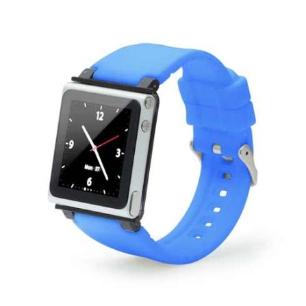 Capa Relógio de Silicone para iPod Nano 6G Iwatch, Azul, 06 meses