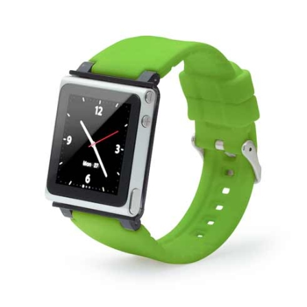 Capa Relógio de Silicone Verde para iPod Nano 6G - Iwatchz - IWATCHZGRN, Verde, 06 meses