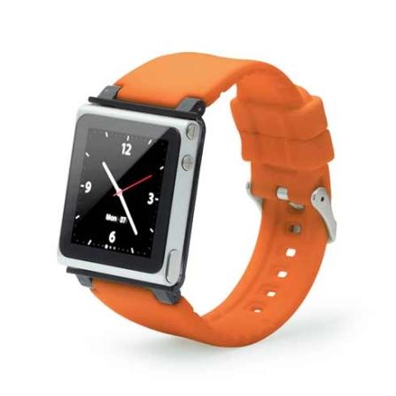 Capa Relógio de Silicone para iPod Nano 6G Iwatchz, Laranja, 06 meses