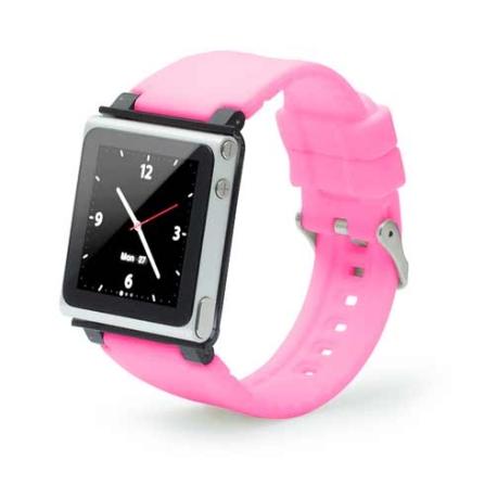 Capa Relógio de Silicone para iPod Nano 6G Iwatchz, Rosa, 06 meses