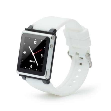 Capa Relógio de Silicone para iPod Nano 6G Iwatchz, Branco, 06 meses