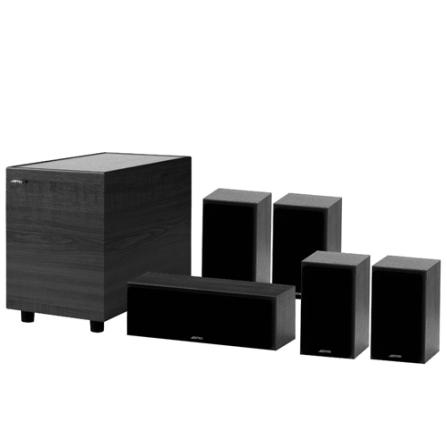 Conjunto de Caixas Acústicas Jamo S413HCS5 para Home Theater com  Potência Total de 820W - S413HCS5PTO
