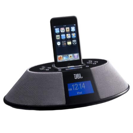 Dock para iPod com Relógio / Rádio AM/FM / Preto - JBL - OT200IDBLK, 110V