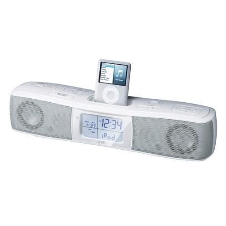 Dock Portátil para iPod com Rádio FM / Controle Remoto / Despertador - JVC - RAP30
