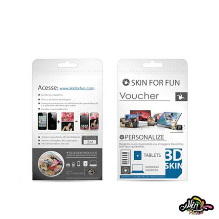 Voucher 3D Skin para iPad 2 - Skin - 789853612308, Colorido