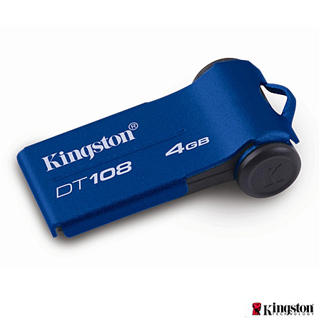 Pen Drive 4 GB Kingston Data Traveler Azul DT108