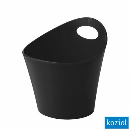 Organizador Plástico Pottichelli M 1,2 Litros Koziol Preto - 2838526