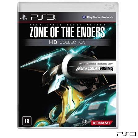 Jogo Zone of the Enders: HD Collection para Playstation 3, PlayStation 3, Ação, Blu-ray, 18 anos, Inglês, Inglês, 03 meses