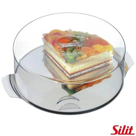 Prato de Bolo Redondo com Tampa 30 cm - Silit