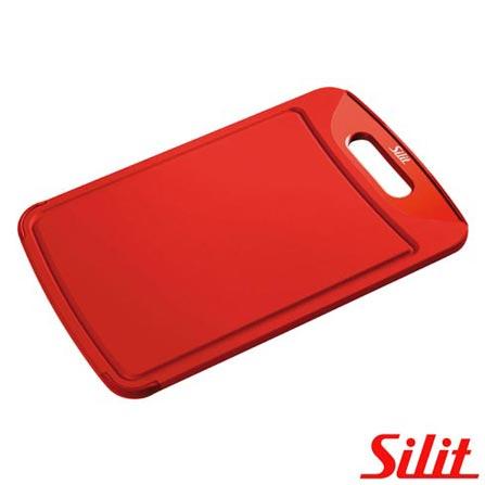 Tábua Anti Bactéria 38x25cm Vermelha Silit - SL714VM