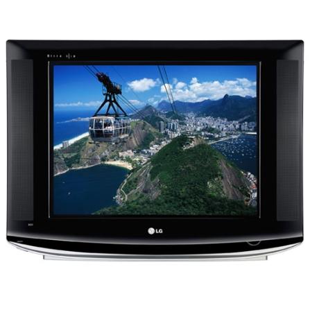 "Tv Cinescópio Ultra Slim 21"" / Tela plana 4:3 / Closed Caption / Estéreo SAP -  LG - 21FU6TL"
