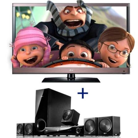 TV LED LCD LG Cinema 3D LW5700 com 55