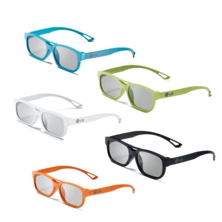 Kit de Óculos 3D LG F215 Colorido Compatível com as  TVs LW4500, LW5700, LW6500, LW9800