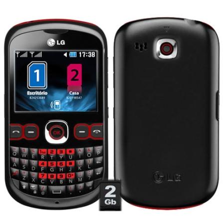 Celular Dual Chip C310, LG Push Mail e QWERT LG
