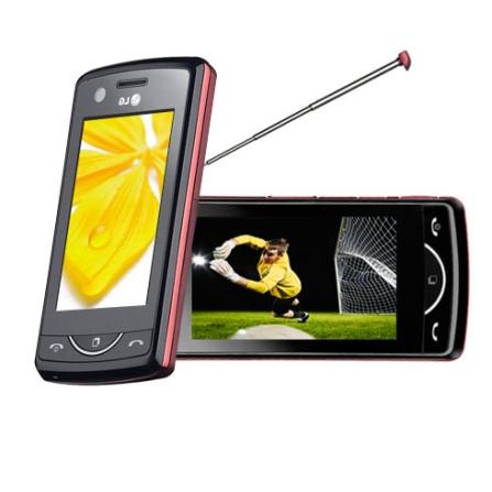 Celular KB775 Scarlet c/ TV Digital LG + Chip Vivo