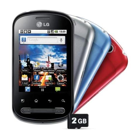 Smartphone LG Optimus Me P350 com Câmera 3MP, Display Touch de 2,8