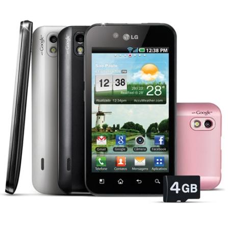 Smartphone LG Optimus Black com Câmera 5MP, Display Touch de 4