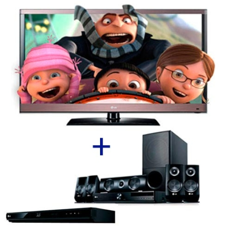 TV LED LCD LG Cinema 3D LW5700 com 42