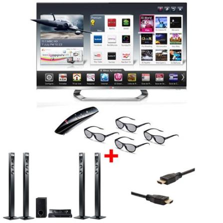 TV LED LCD LG LM8600 com 47