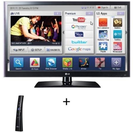 TV LED LCD LV5500 55'' + Controle Magic Motion LG, VD
