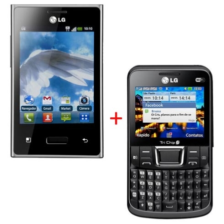 Smartphone LG Optimus L3 E400 Desbloqueado VIVO com Display de 3,2