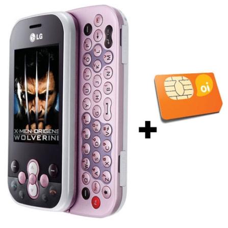 Celular GSM GT360 Messenger LG + Chip OI