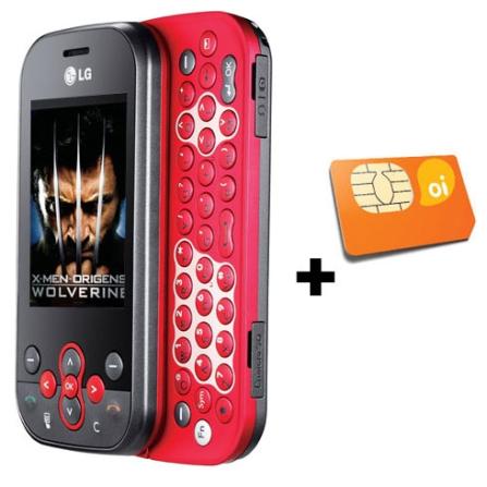 Celular GT360 c/ Messenger/Conteúdo X-Men LG + Oi