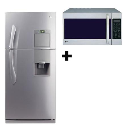 Refrigerador 413L Frost Free + Microondas 26L LG, 110V, LB