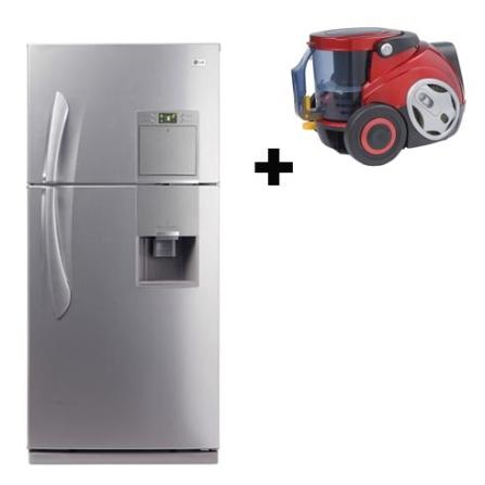 Refrigerador 413L Top Mount + Aspirador de Pó LG, 110V, LB