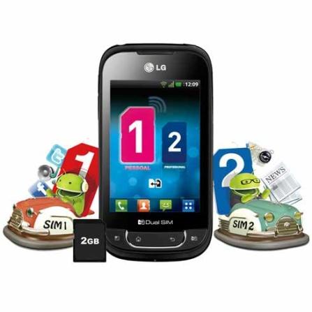 Smartphone LG Optimus P698 + Roteador + Limpador