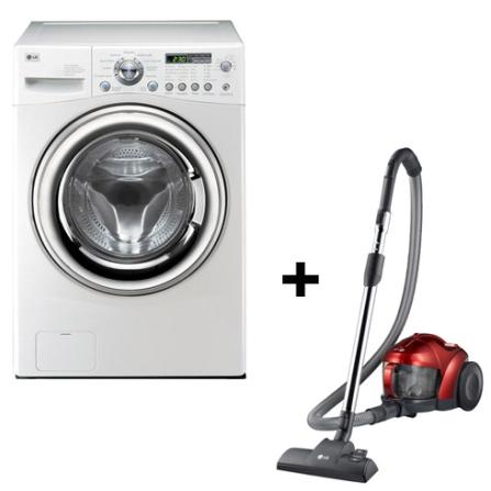 Lavadora e Secadora 11Kg+Aspirador de Pó Catch LG, 110V