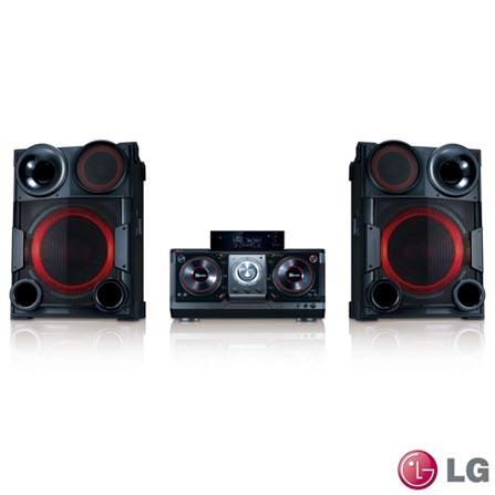 Mini System LG CM9730 com Potência Total de Saída de 2000w, Bluetooth, Smart DJ, DJ Effect, Caixas Acústicas com Luzes d